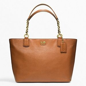 Coach Madison Large Leather Shoulder Tote!